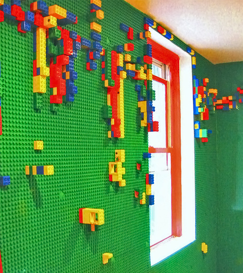Colorful and Unique Lego Wall in A Cafe Boobah