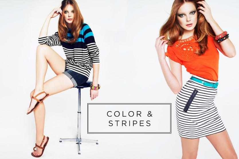 Love This Mango Color and Stripes Collection