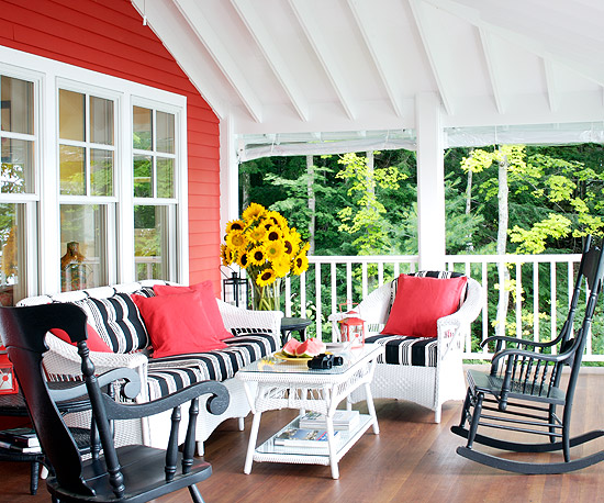 Colorful Outdoor Porches Retreat 1