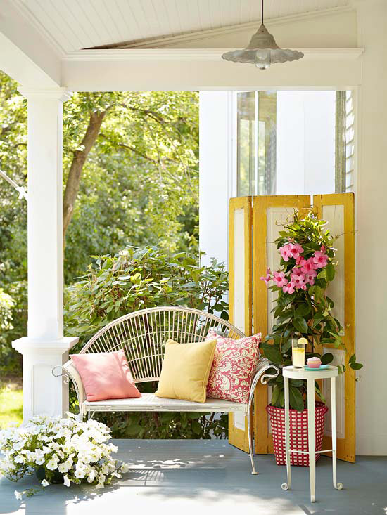 Colorful Outdoor Porches Retreat 6