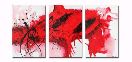 Lava Canvas Wall Art by Andrew Lau Contemporary Abstract Paintings