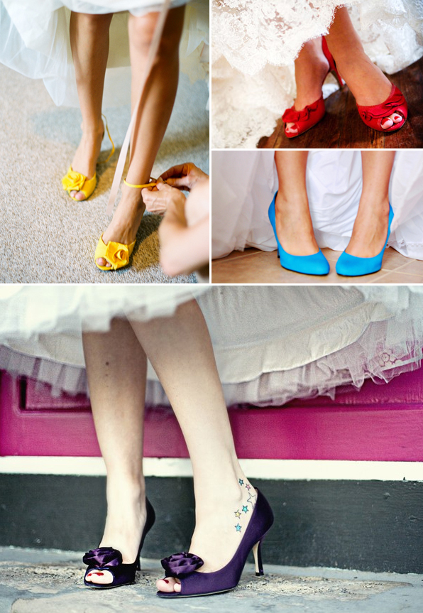 Sweet and Colorful Wedding Shoes