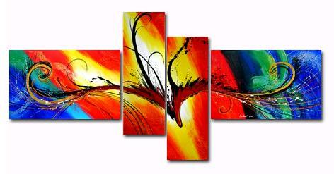 The Legend I Canvas Painting Set by Andew Lau Contemporary Abstract Paintings