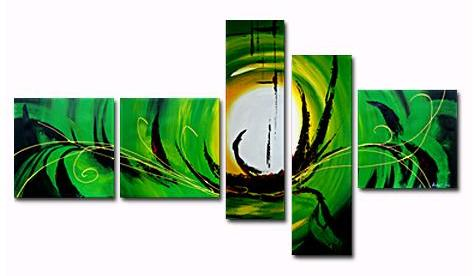 The Legend II Canvas Painting Set by Andew Lau Contemporary Abstract Paintings