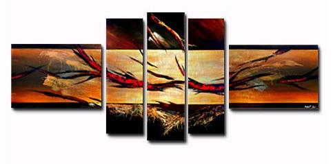 The Prologue I Canvas Painting Set by Andrew Lau  Contemporary Abstract Paintings
