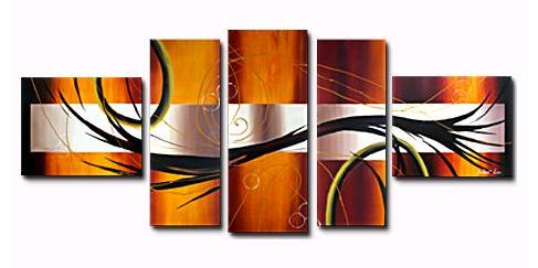 The Prologue II Canvas Painting Set by Andrew Lau  Contemporary Abstract Paintings