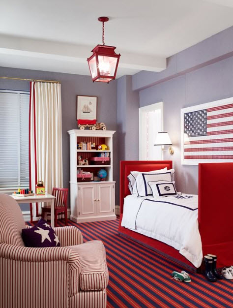 Colorful boys room paint idea s at in seven colors for Boys bedroom ideas paint