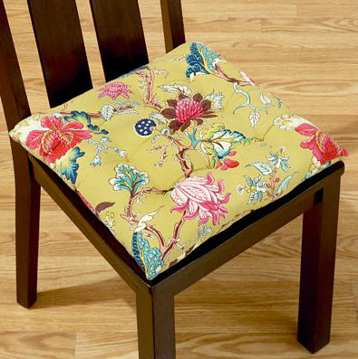 Colorful dining room chair cushions 4 at in seven colors for Dining room chair cushions