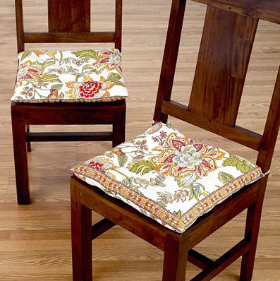 Colorful dining room chair cushions 5 at in seven colors for Dining room chair cushions