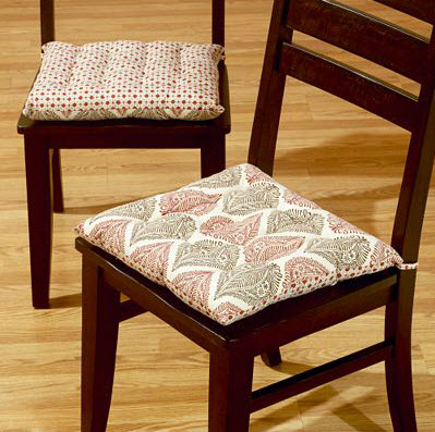 Dining room chair cushions casual cottage for Dining room chair cushions