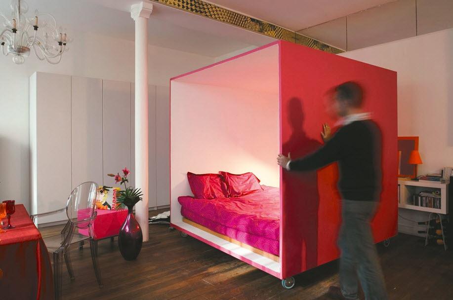 Hiding Bed In Studio Apartment