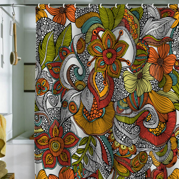 Bright Colorful Shower Curtains