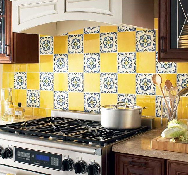 Colorful Kitchen Backsplash Pictures 32 At In Seven Colors Colorful Designs Pictures And