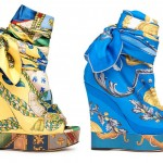 Multi-colored wedges from Dolce and Gabbana Wedges Collection 2012
