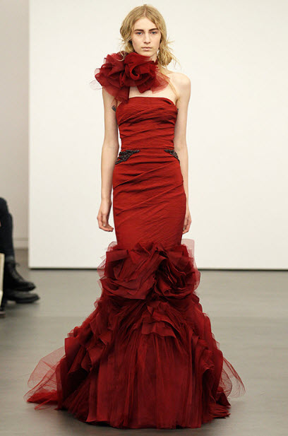 Red wedding dresses by vera wang 12 at in seven colors for All red wedding dresses