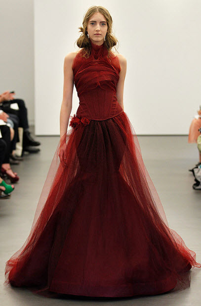 Red wedding dresses by vera wang 3 at in seven colors for All red wedding dresses