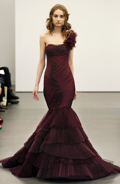 Red wedding dresses by vera wang 4 at in seven colors for All red wedding dresses