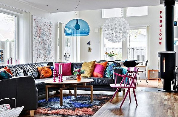Colorful apartment decorating ideas the flat decoration - Interior design for dark rooms bright ideas ...
