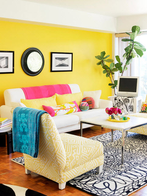 Colorful Living Room Interior Design Ideas: 20 Vibrant Decorating Ideas For Living Rooms