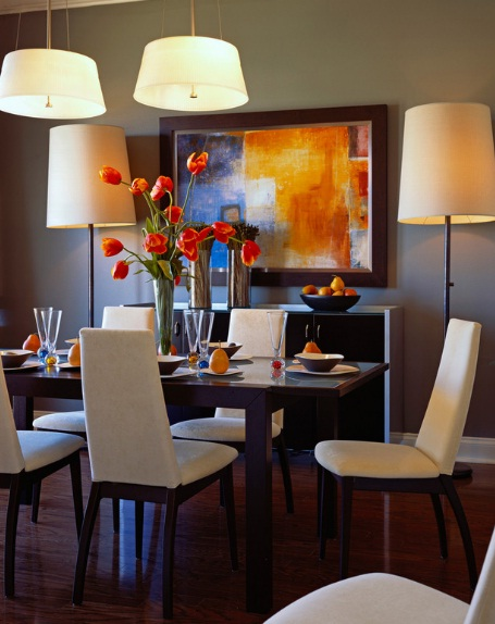 Dining room wall decor dining room paint ideas 21 at for Dining wall painting
