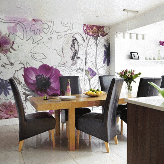 Dining room wall decor dining room wallpaper ideas at for Dining wall decor ideas