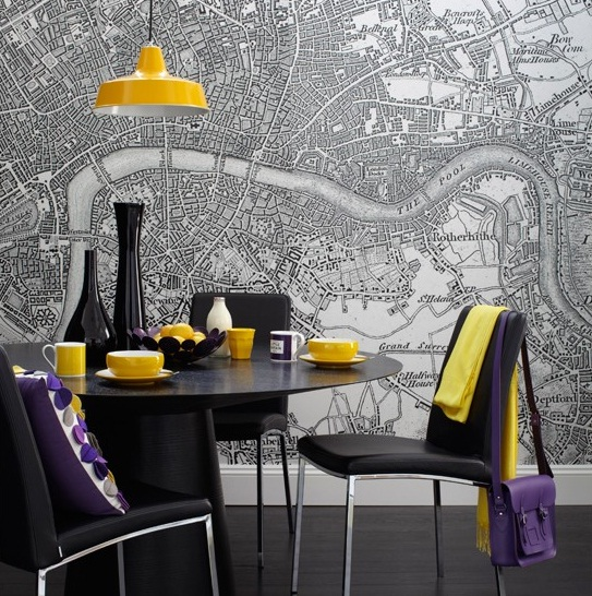 Dining room wall decor dining room wallpaper ideas 1 for Dining room mural wallpaper