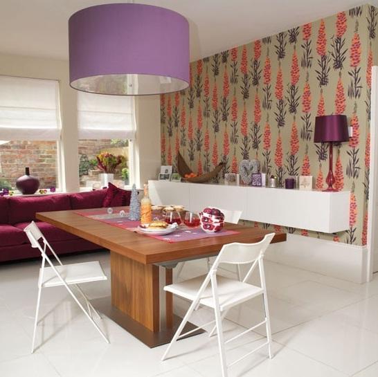Dining room wall decor dining room wallpaper ideas 3 for Dining room color ideas 2012