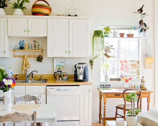 Bright small kitchen remodel ideas 10 at in seven colors for Bright kitchen decorating ideas
