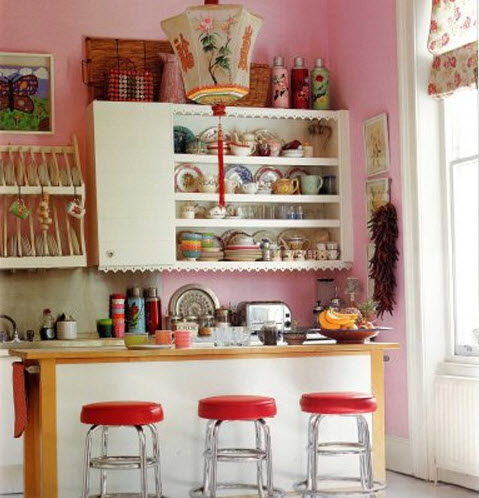 Bright small kitchen remodel ideas 13 at in seven colors for Bright kitchen color ideas