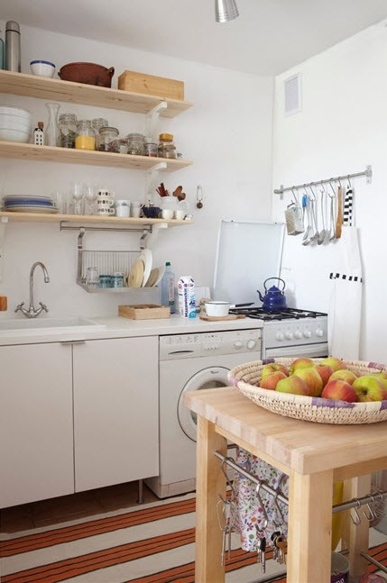 Bright small kitchen remodel ideas 16 at in seven colors for Bright kitchen decorating ideas