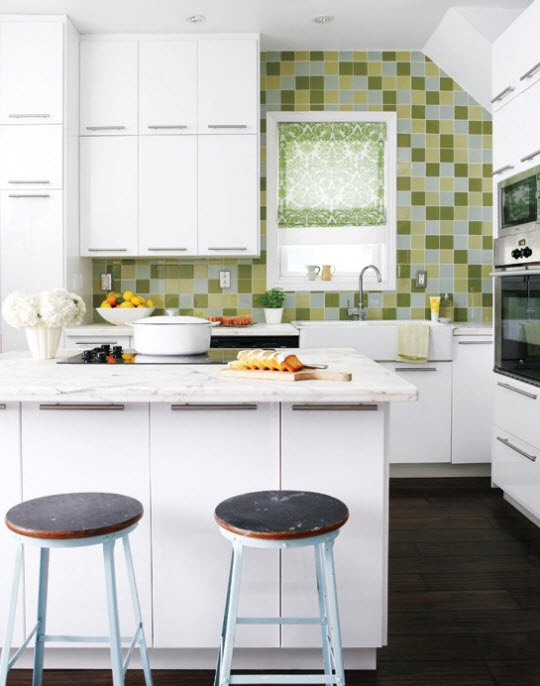 Bright small kitchen remodel ideas 8 at in seven colors for Small kitchen redo ideas