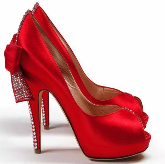 designer red wedding shoes -#main