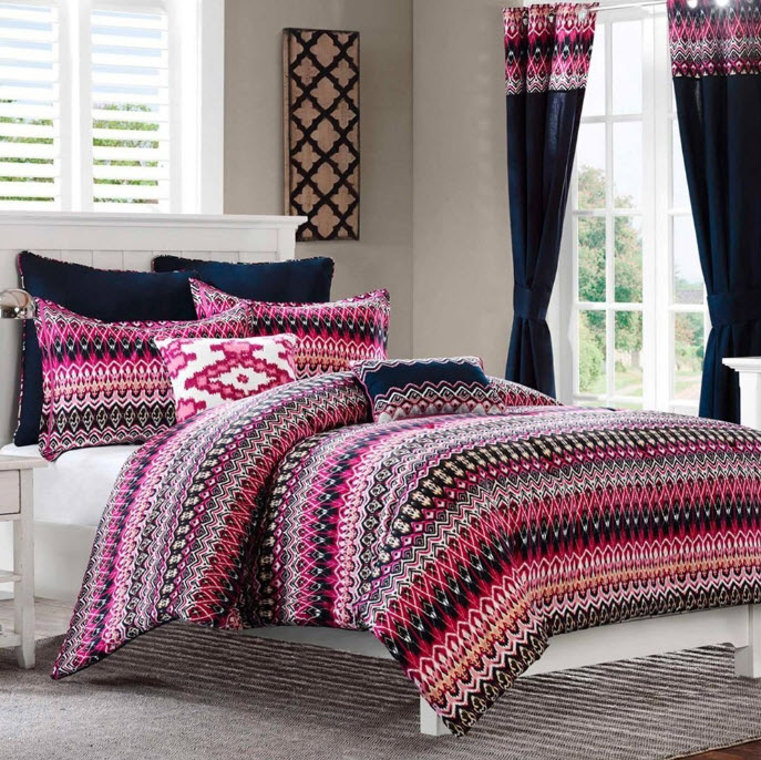 Colorful Bed Comforter Sets Full 3 At In Seven Colors
