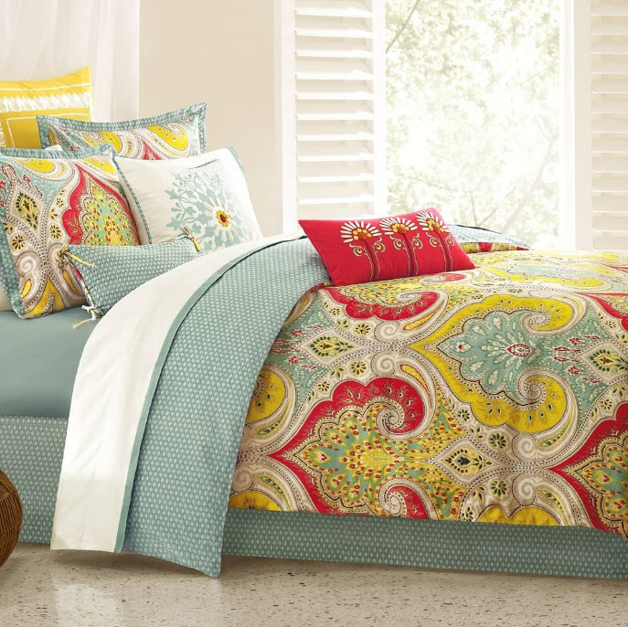 Colorful bed comforter sets full 5 at in seven colors colorful designs pictures and - Home design sheets ...