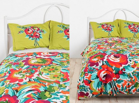 Beautiful Multi Colored Duvet Covers And Pillow Shams In