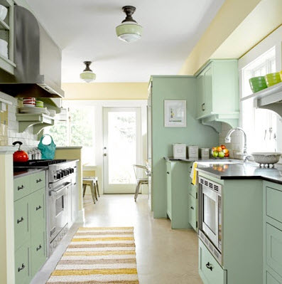 Bright galley kitchen designs 5 at in seven colors for Bright kitchen designs