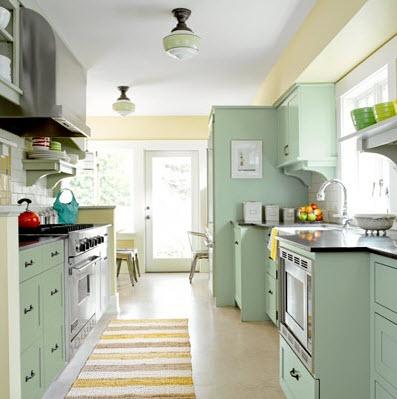 Bright galley kitchen designs 5 at in seven colors for Apartment galley kitchen designs