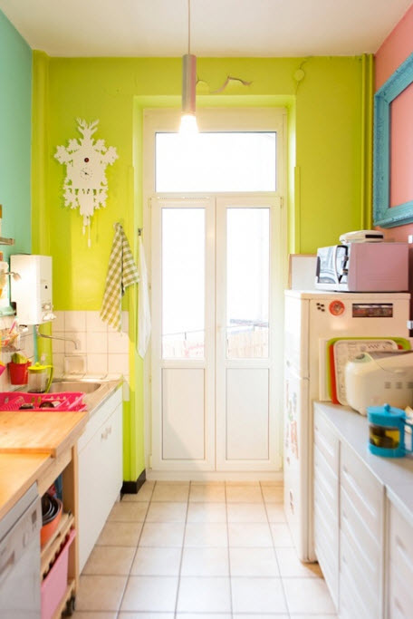 Pretty Bright Small Kitchen Color For Apartment Bright Galley Kitchen Designs 6 At In Seven Colors Colorful