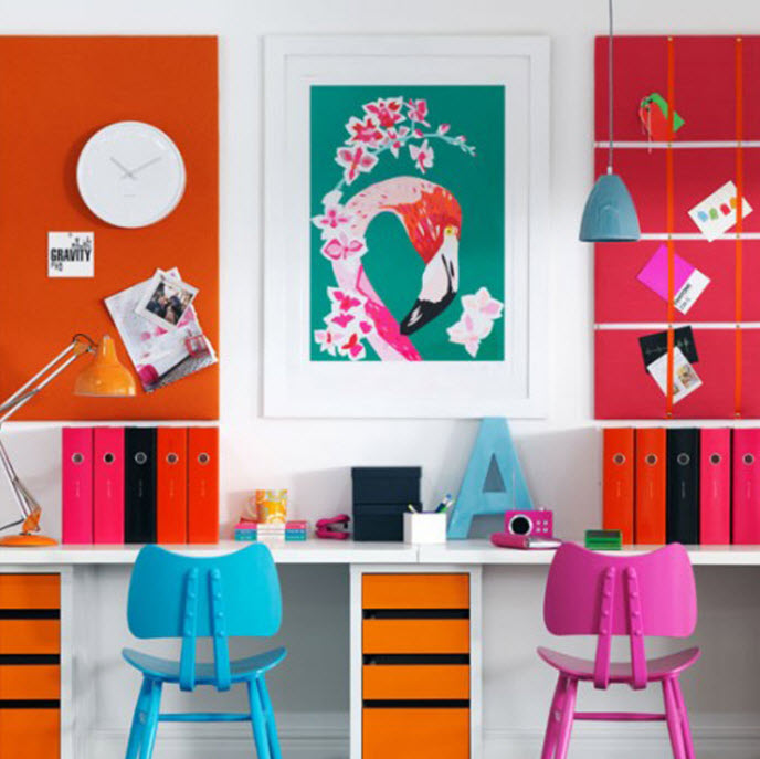 Colorful Home Office Decor Ideas 2 At In Seven Colors Colorful Designs Pictures And