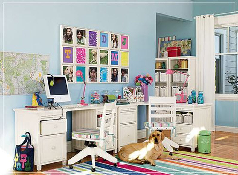 Colorful home office decor ideas 4 at in seven colors for Colorful office decorating ideas