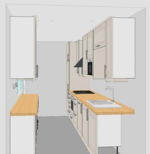 galley kitchen layout 2 at in seven colors colorful designs pictures and magazines all. Black Bedroom Furniture Sets. Home Design Ideas