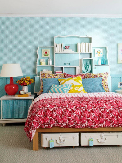 17 simple and colorful design ideas for decorating teenage for Simple bedroom color ideas
