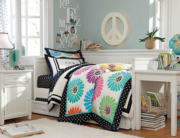 17 simple and colorful design ideas for decorating Simple teenage girl room ideas