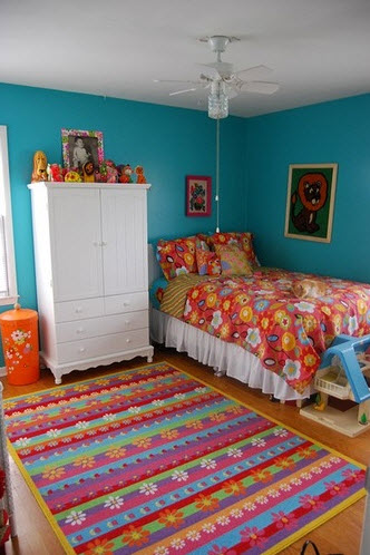 simple and colorful design ideas for decorating teenage girls bedrooms