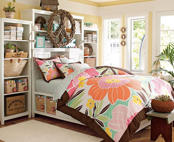 17 simple and colorful design ideas for decorating teenage girls bedrooms 8 at in seven colors - Colorful teen bedroom designs ...