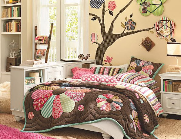 17 simple and colorful design ideas for decorating teenage girls bedrooms 9 at in seven colors - A simple teenagers bedroom ...