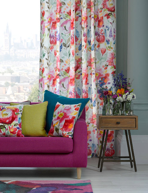 Curtains Ideas bright patterned curtains : Bright Multi Color Curtains - Best Curtains 2017