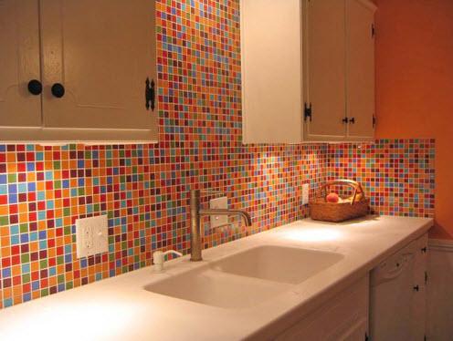 Colorful Kitchen Backsplash Pictures_22