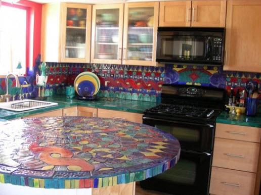 Colorful Kitchen Backsplash Pictures_26
