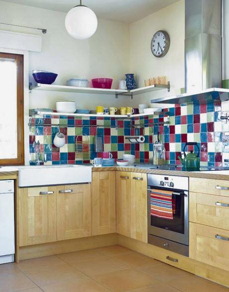 Colorful Kitchen Backsplash Pictures_3